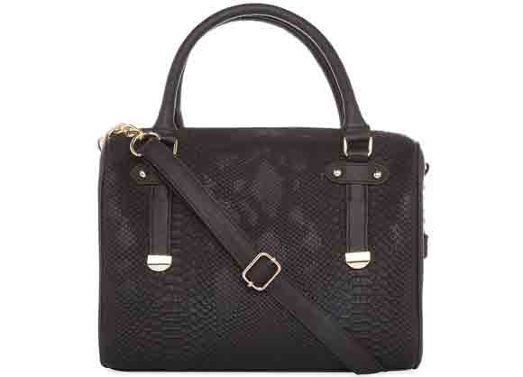 Bolso barrel negro