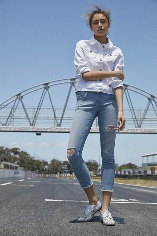 Chaqueta Primark blanca de jean
