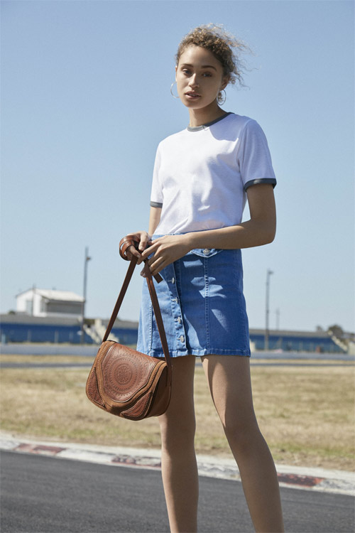 Primark falda de jean y blusa