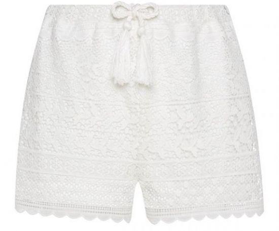 Short blanco de crochet España