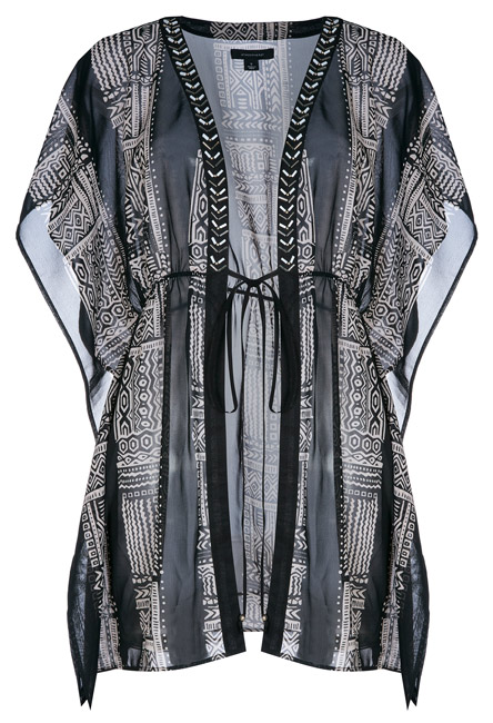 Primark kimono monocromático