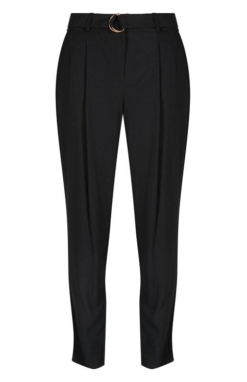 Primark pantalón negro con hebilla dorada