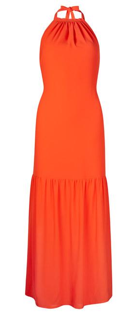 Vestido naranja largo Primark
