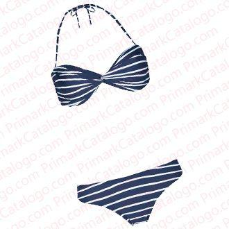 Bikini a rayas azules