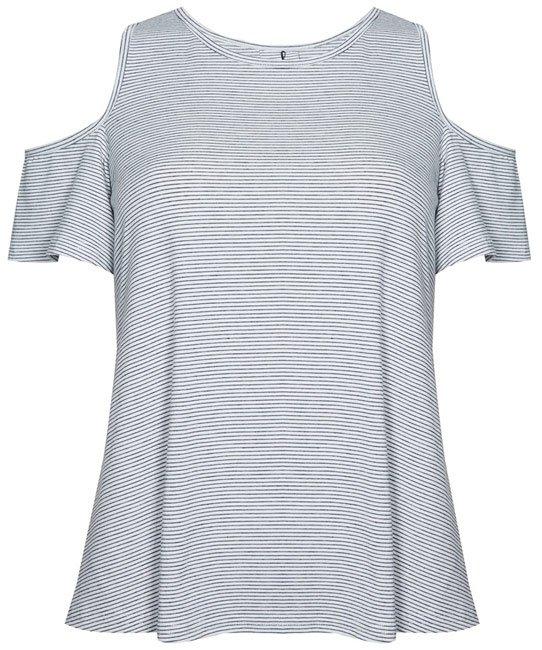 Primark camiseta a rayas sin hombros
