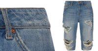 Short de jean roto y largo