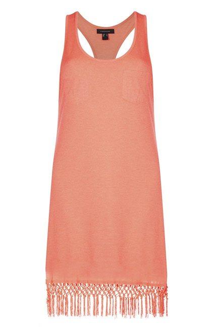 Primark vestido rosado con flecos