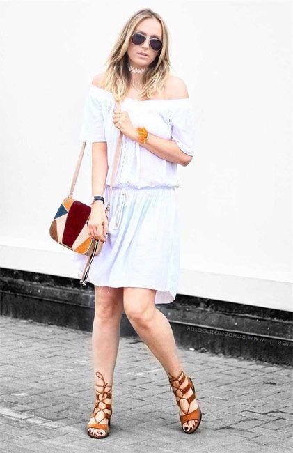 Vestido blanco de mujer