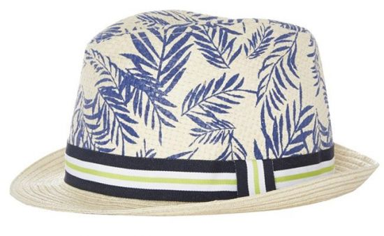 Sombrero borsalino de paja estampado