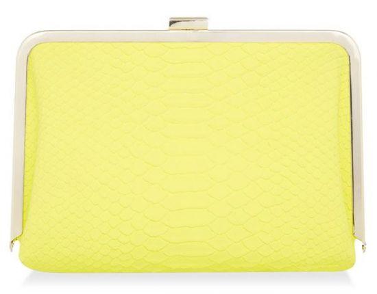 Bolso amarillo mujer