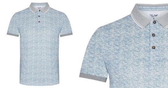 Camisa polo Primark azul de ligamento esterilla