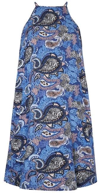 Primark vestido azul estampado