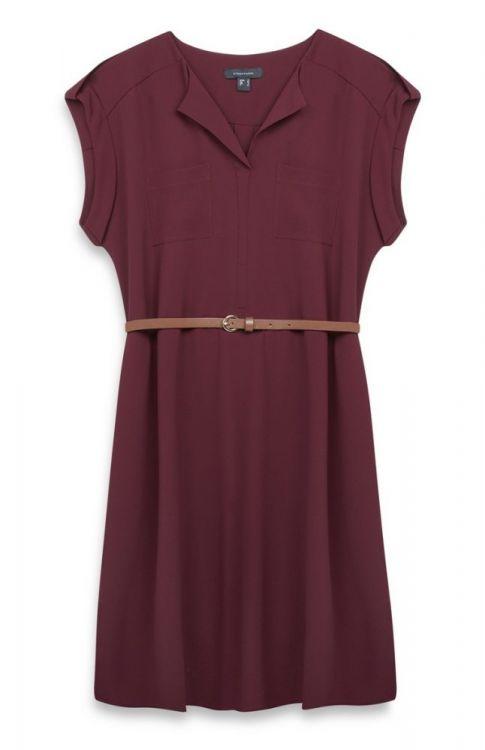 Vestido de mujer color crepe