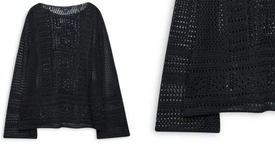 Blusa de crochet negra