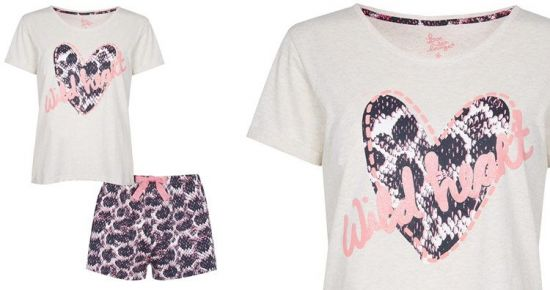 Pijama corto rosa