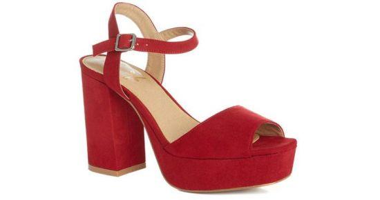 Primark sandalias de plataforma rojas