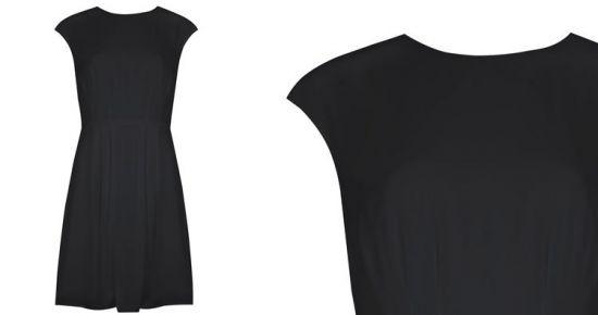 Primark vestido negro con cremallera