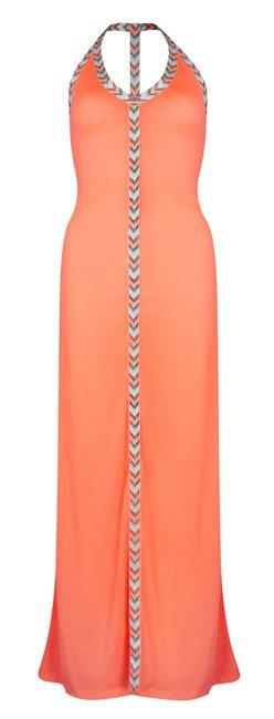 Vestido largo salmón de Primark