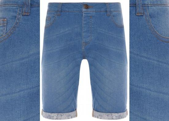 Bermudas jeans para hombre