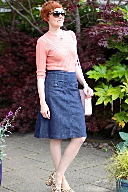 falda corta jean