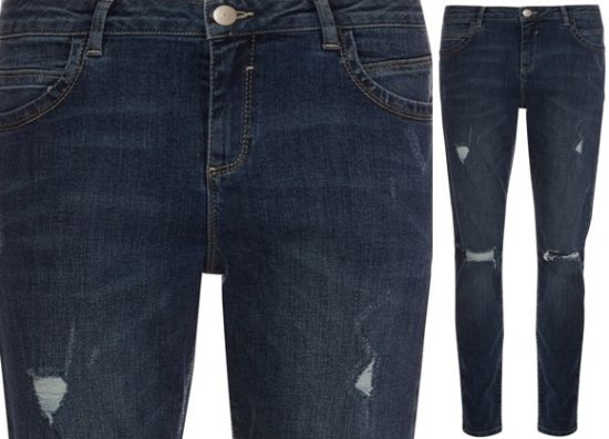 jeans rasgados de mujer