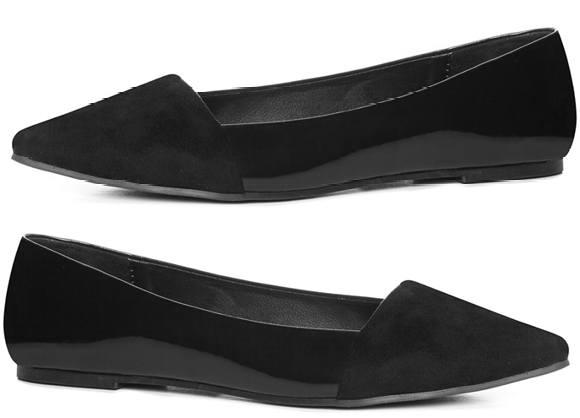 zapatos de señora de charol negro