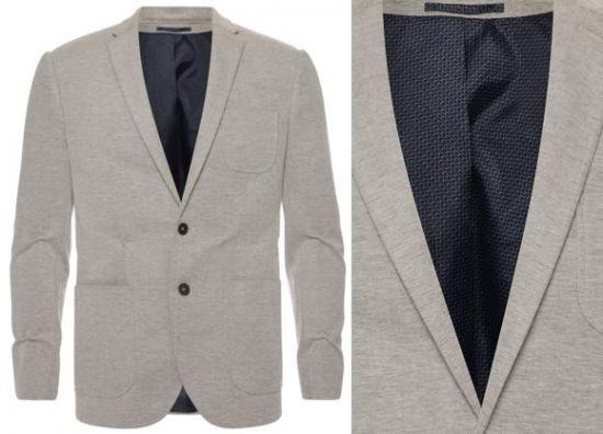 blazer formal gris