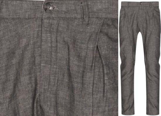 pantalón con pinzas gris de hombre