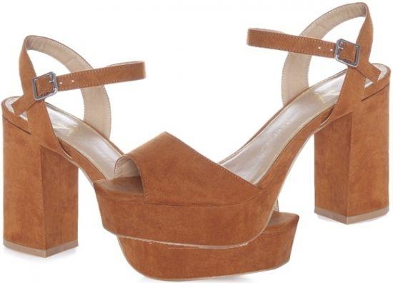 sandalias color marrón