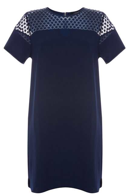 Primark vestido azul oscuro crepé
