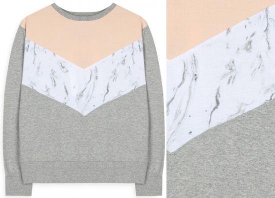 Jersey de algod n gris estampado m rmol en el cat logo de for Marmol color gris
