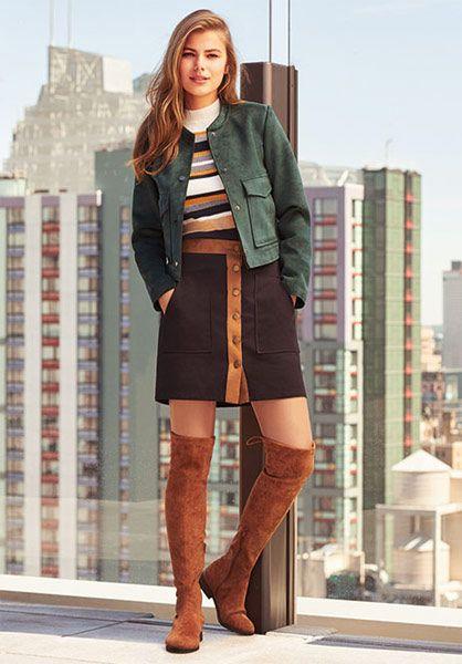 Minifalda Primark chaqueta
