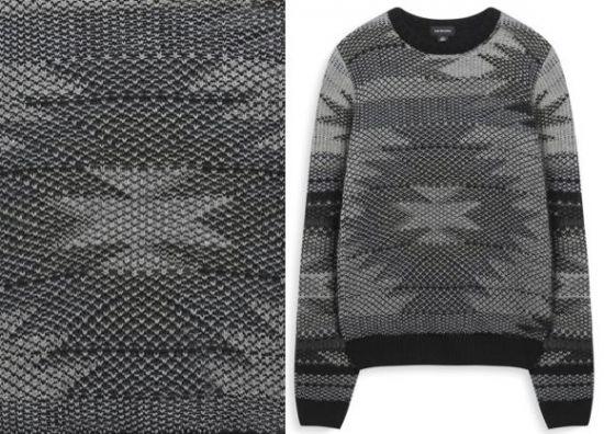 jersey para dama Jersey gris con estampado geométrico en Primark