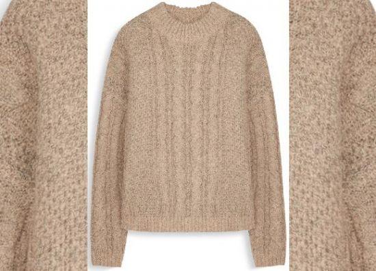 Jersey de Cachemira de lana marrón