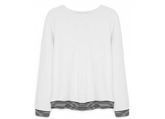 jersey blanco para dama