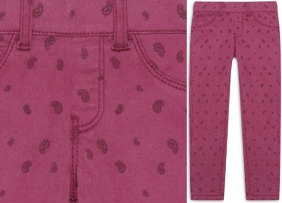 Leggins vaqueros rosa para niña