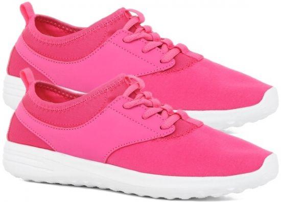 Zapatillas rosas de zapatillas deporte mujer