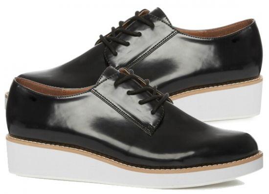 Comprar zapatillas negras de plataforma con cordones