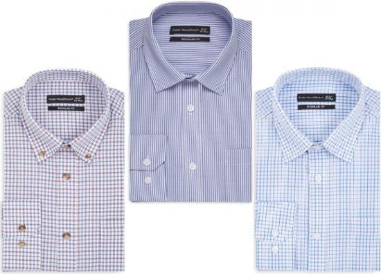Camisas para traje a rayas y cuadros