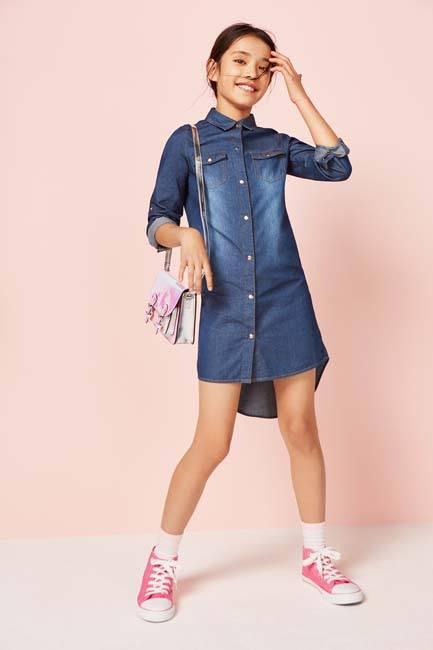 896d4d4e7 Vestido vaquero niña en Primark infantil - Los mejores diseños de ni