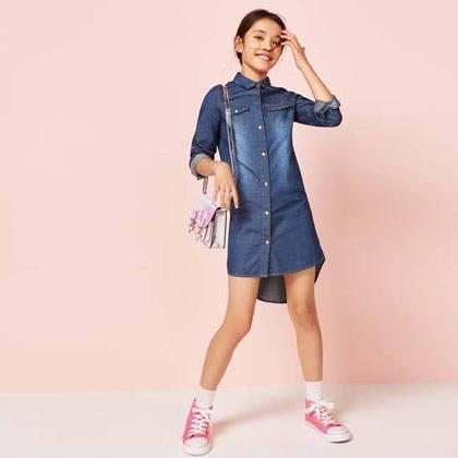 Vestido Denim niña