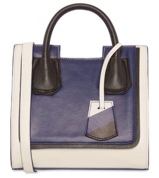 Bolso azul de mujer