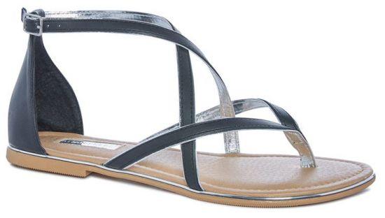 Sandalias negras de mujer