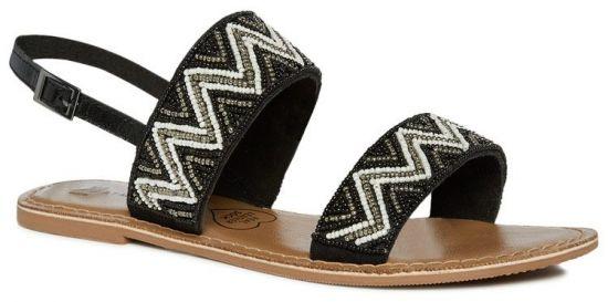 Sandalias planas en negro