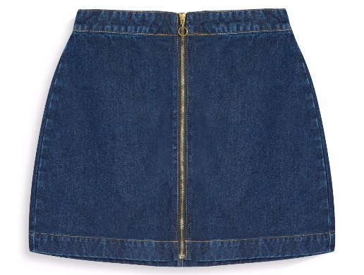 falda de jean con cierre Primark