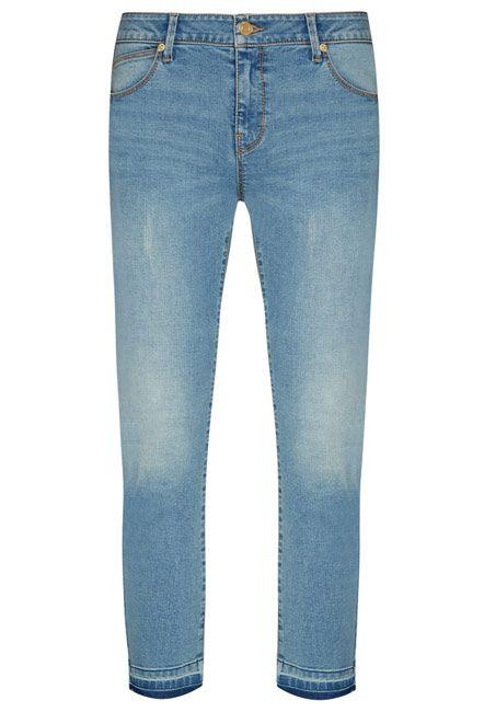 Denim jeans tobilleros