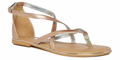 sandalias doradas Primark