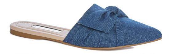 Sandalias planas azules para mujer