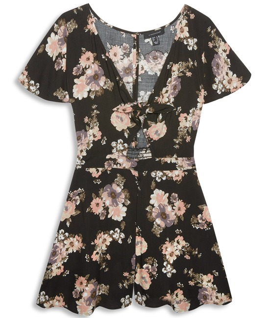 Vestido de lazo floreado