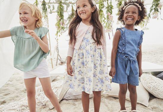 vestidos demin para niña
